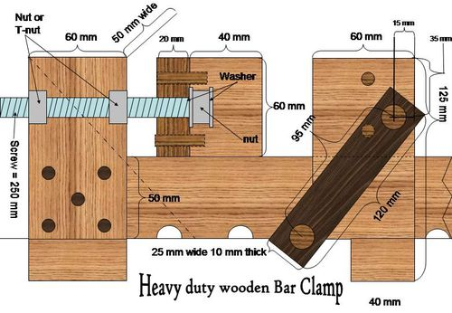 Woodwork Wood Bar Clamps PDF Plans