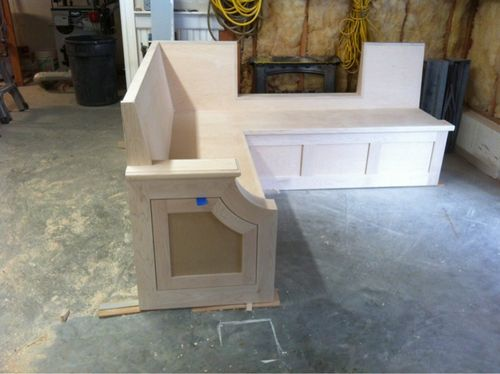 Banquette build my first furniture attempt 1 the beginning by woodchuck4 lumberjocks - Building a kitchen banquette ...