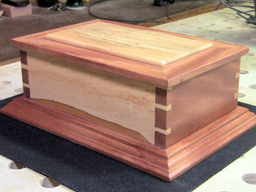 Handcut dovetail jewelry box by woodjedintraining for How to make a ring box out of wood