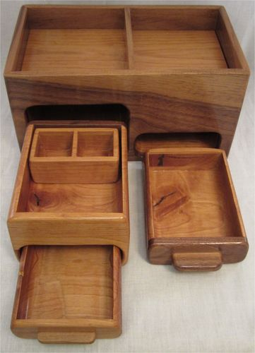 Coin wooden boxes false bottom