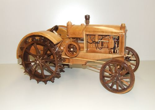 Woodworking wooden tractor plans PDF Free Download
