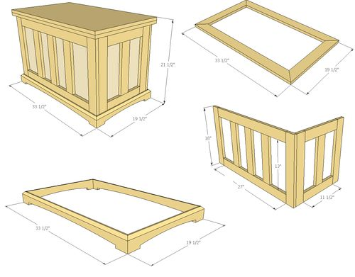 Pocket hole blanket chest 2 video 2 by jsb for Hope chest plans pdf