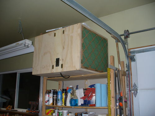 Woodworking Air Cleaner : Another home made shop air cleaner it blows big time