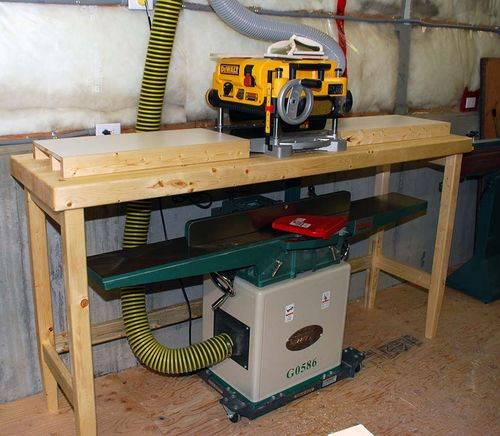 Jointer Planer Stand Plans Diy Wooden Tool Cabinet