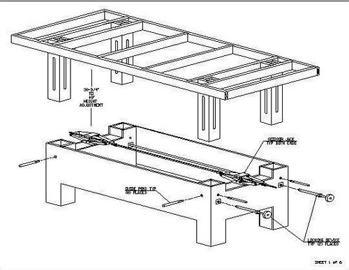 adjustable work table plans
