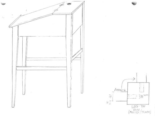slant top desk plans
