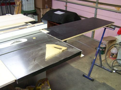 Infeed Table Saw Extension By Grenger Lumberjocks Com