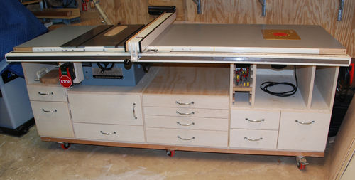 My table saw cabinet work in progress 1 so far so for My contractor plan