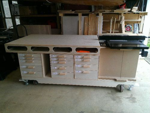Ultimate Mobile Woodworking Bench Umwb 9 Overall