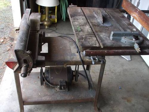 Vintage Delta Milwaukee Combo Table Saw And Jointer