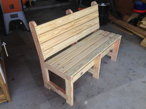 Diy project wooden wax seal how to build a wood bench for Diy bench with back