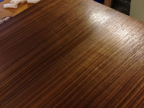 Walnut Veneer Plywood ~ Watco danish oil issue on walnut veneer plywood by
