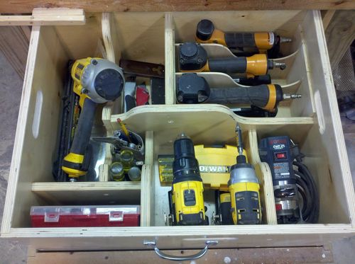 Job site tool organizer by baldwin for Home construction organizer