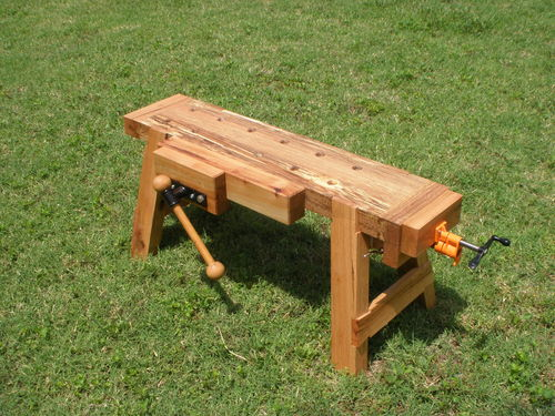 Traveling work saw bench by jayt for Table saw workbench woodworking plans