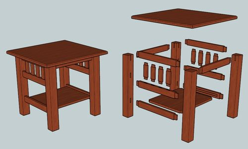 ... end table - by TheLastDeadMouse @ LumberJocks.com ~ woodworking