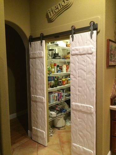 Sliding Faux Barn Door By Rj2 Lumberjocks Com