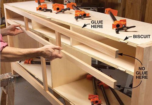 Furniture making tutorials 7 attaching face frames by for Building kitchen cabinets with pocket screws