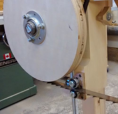 Homemade Band Sawmill 3 Blade Guides And Guards By