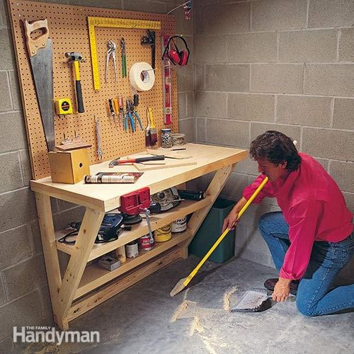 bo garage need a space for tools ideas - Woodworking on a Half Shoestring 24 Wall Mounted Floor