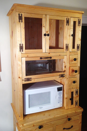 Microwave Stand Designs : Rustic microwave stand by garbanzolasvegas lumberjocks