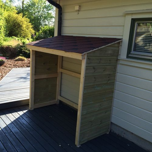 A Outdoor Storage Shed For My Bbq Grill 5 The Roof By