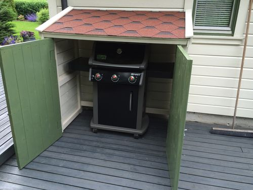 Bbq Grill Storage Shed By Stefang
