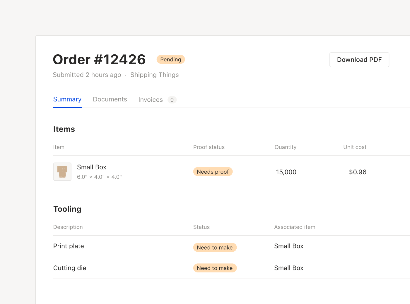 Receive purchase orders