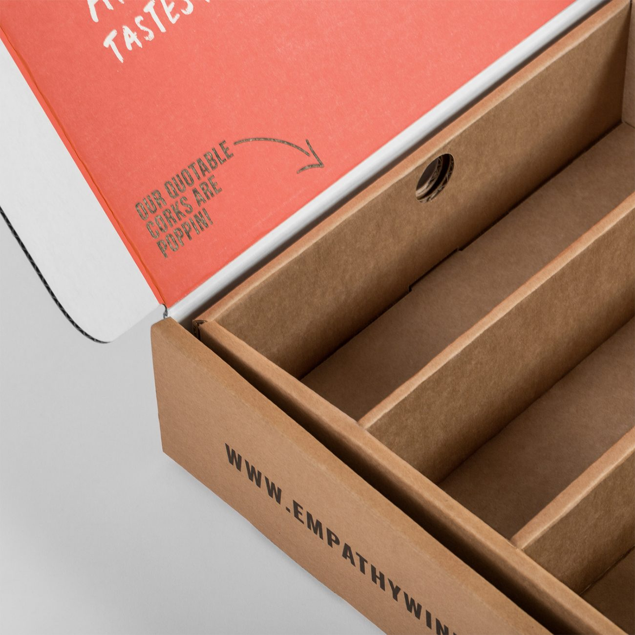 Empathy Wines Corrugated Inserts, Corrugated Mailer Boxes