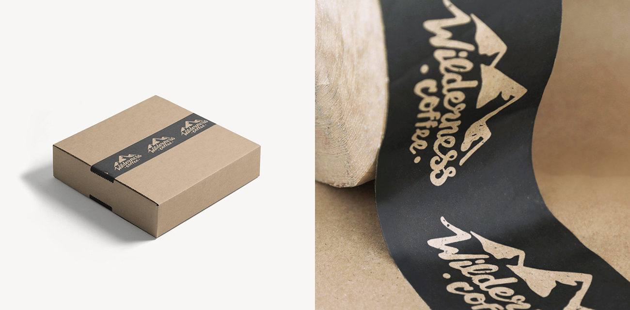 Design: Wilderness Coffee A Practical Guide to Designing Packing Tape