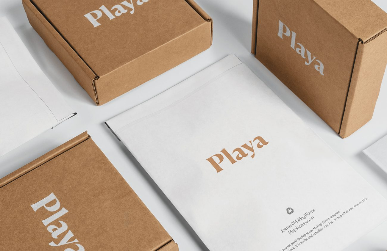 Playa bypasses plastic to ship in a suite of paper-based packaging. 11 Strategies to Make Your Packaging More Sustainable