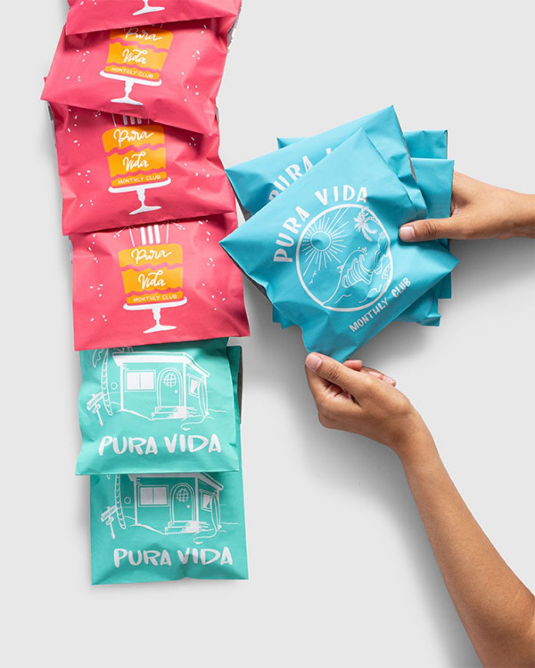 Pura Vida is one of the first Lumi customers to use the new Compostable Poly Mailers Compostable Mailers
