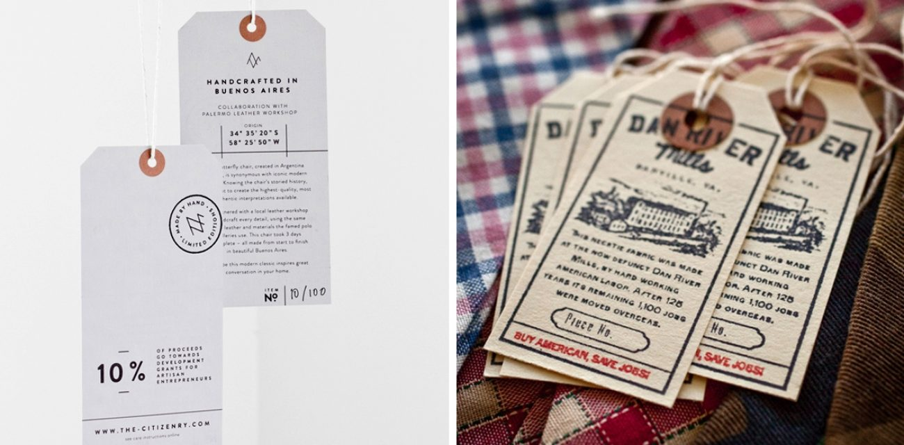 One Tag, Five Ways. Make Hang Tags Your Next Brand Hero