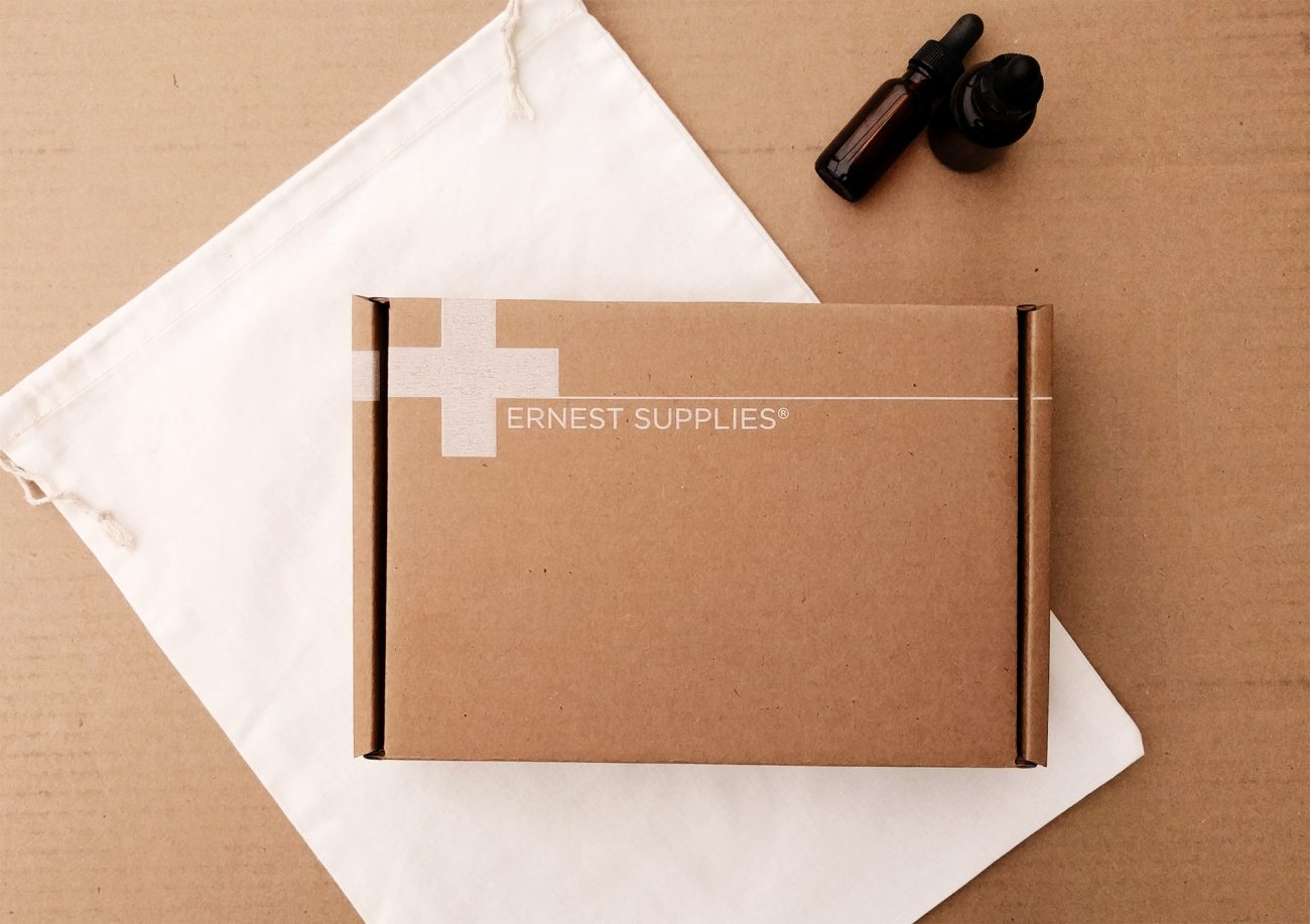 Ernest Supplies The Color Scheme Suited for Almost Any Brand: White on Kraft