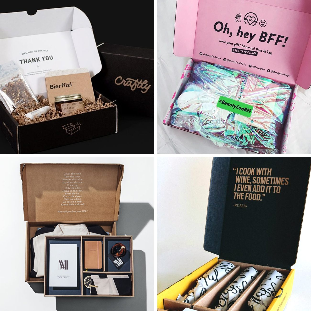 Photos via: Sezane, Lumi, Beauty Con, MM La Fleur, Yan Can 60 Ideas to Spruce Up Your Holiday Packaging Design