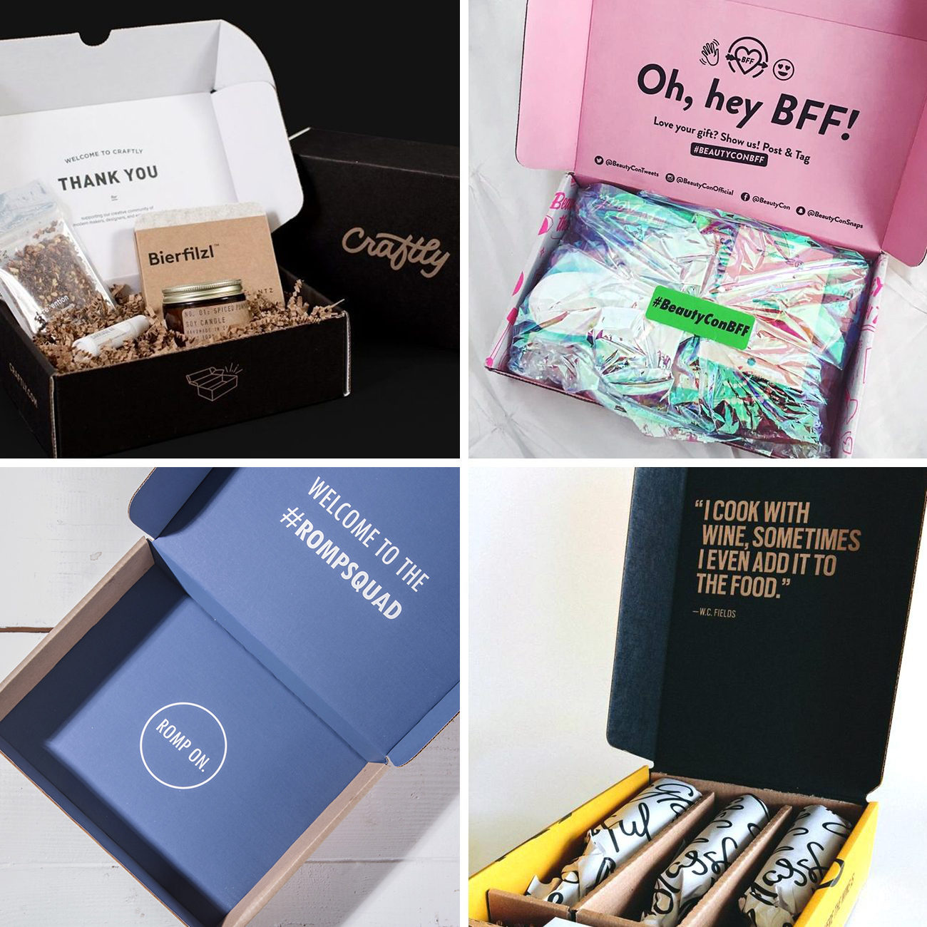 Photos via: Sezane, Lumi, Beauty Con, MM La Fleur, Yan Can 90 Ideas to Spruce Up Your Holiday Packaging Design