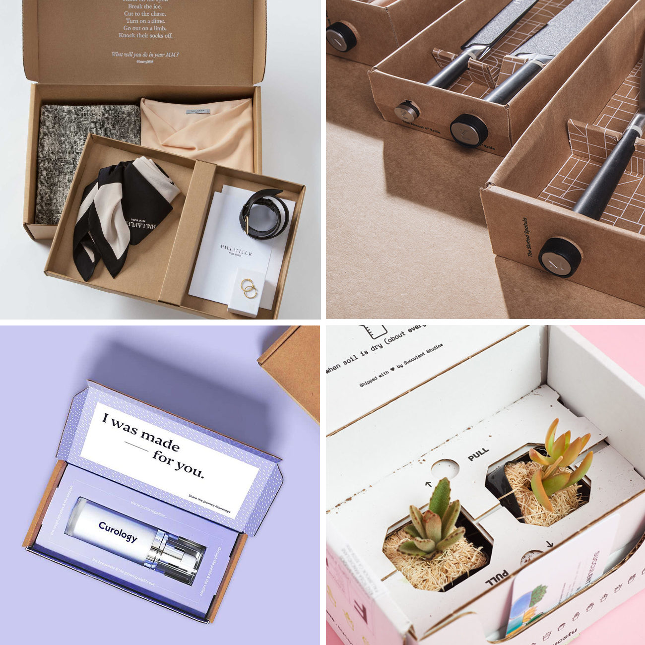 Photos via: It's a Sparkly Life, Lumi, MM La Fleur, Curology, My Subscription Addiction 90 Ideas to Spruce Up Your Holiday Packaging Design