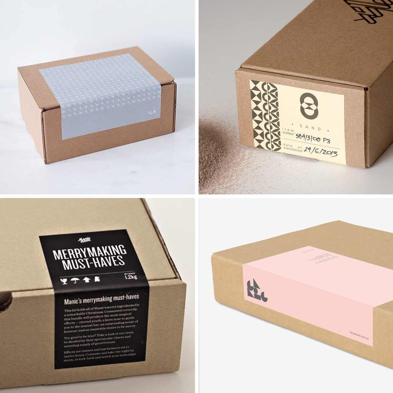 Photos via: Anagrama; Ila; Marios Georntamilis, Nikos Athanasopoulos, and Konstantina Gorgogianni, —, — 90 Ideas to Spruce Up Your Holiday Packaging Design