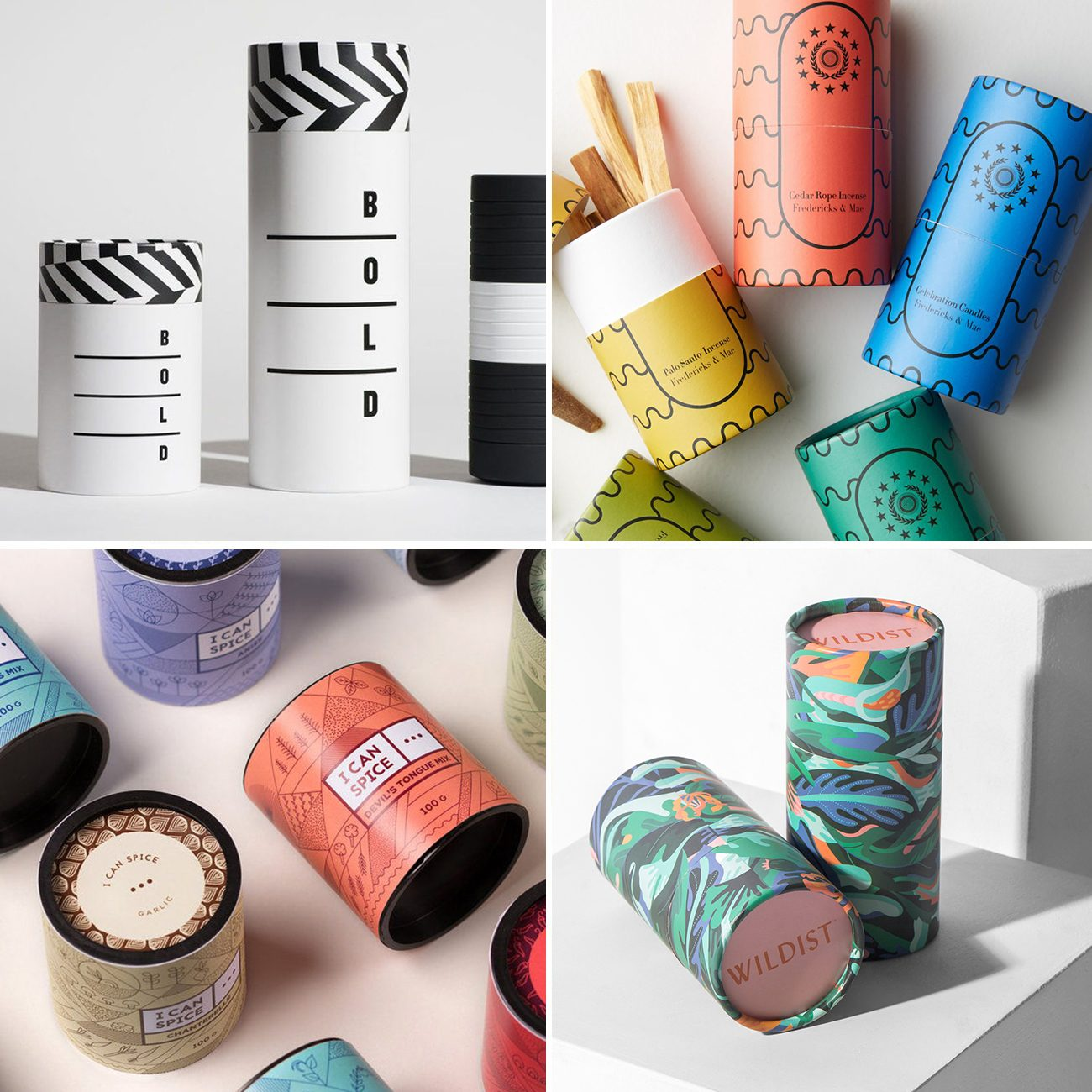Photos via: Repina Branding, The Dieline, Fredericks and Mae, I Can Spice, Lumi 90 Ideas to Spruce Up Your Holiday Packaging Design