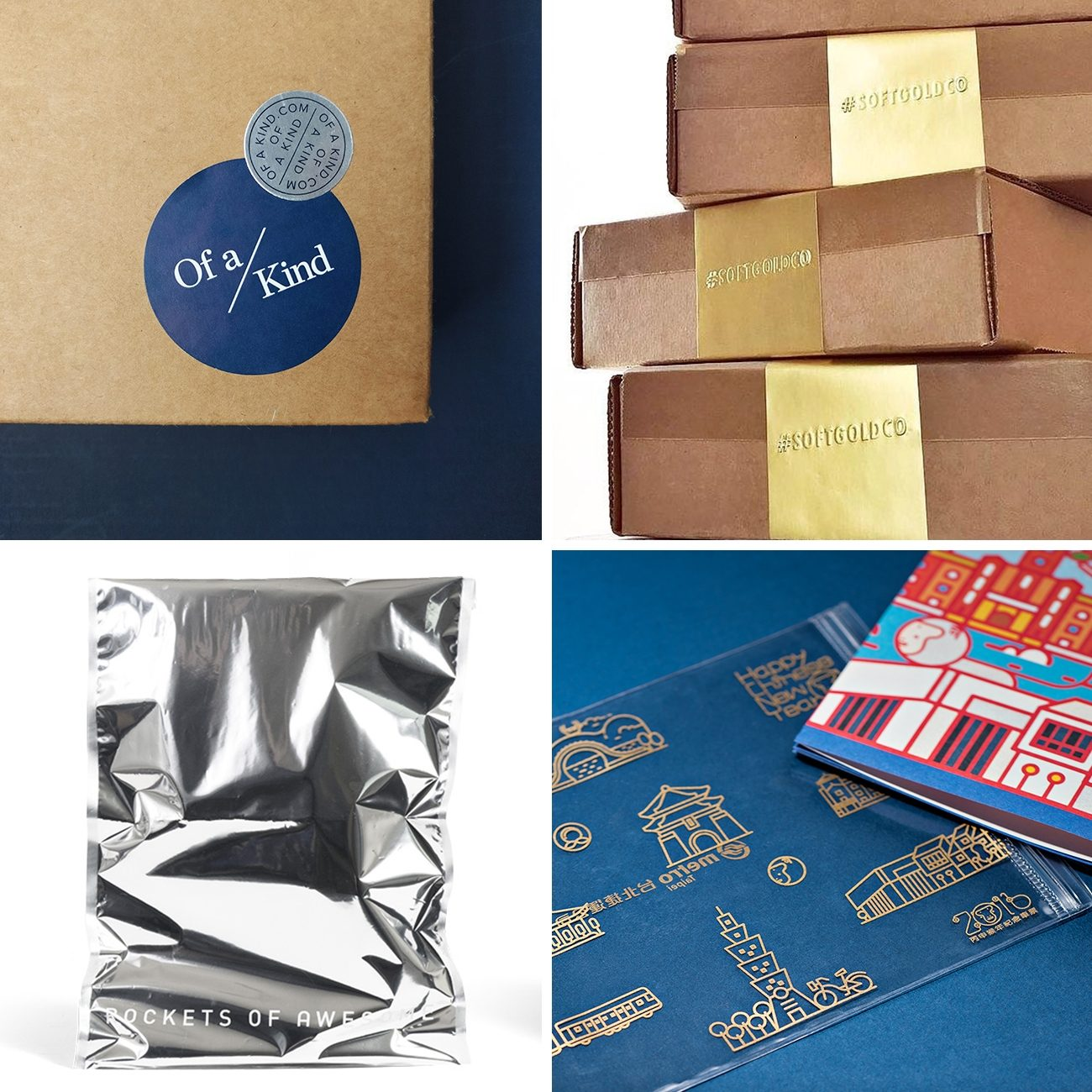 Photos via: FourPlus and Ivaylo Nedkov, Lumi, Soft Gold Co, Lumi, Midnight Design and Kuocheng Liao 70 Ideas to Spruce Up Your Holiday Packaging Design
