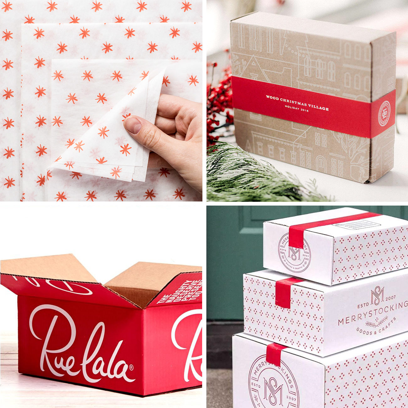 Photos via: Page Three Hundred, Lumi, Studio MLPS, Cassouki 70 Ideas to Spruce Up Your Holiday Packaging Design