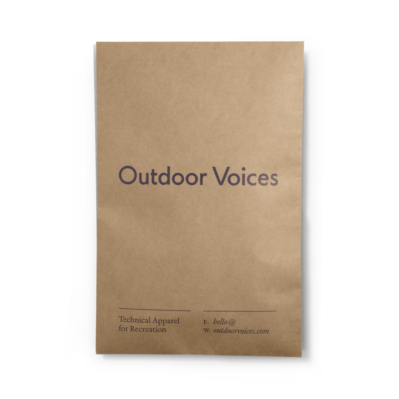 Outdoor Voices stores apparel in ready-to-ship, clear bags that are placed in a kraft mailer for shipping. In storage and in shipping, the bag protects apparel from dirt, liquid, or snags. What every brand can learn from Amazon's Frustration-Free Packaging guidelines