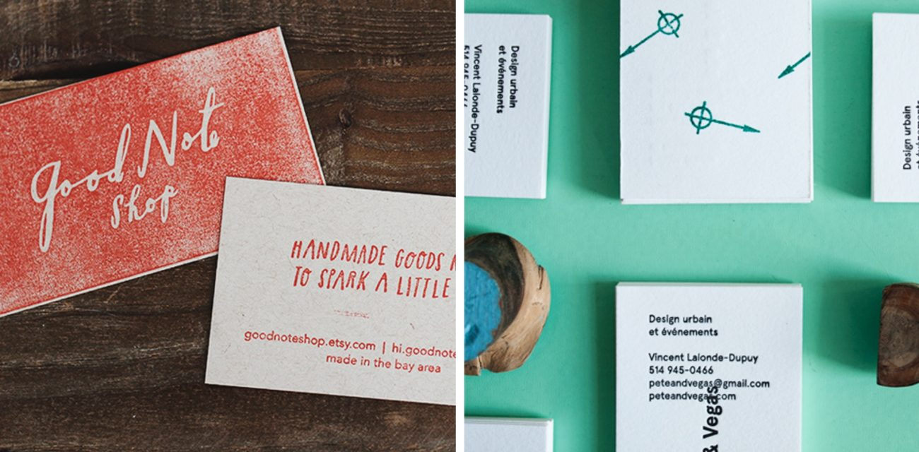 Make it official 6 ways to make stamped business cards lumi blog make it official 6 ways to make stamped business cards reheart Image collections