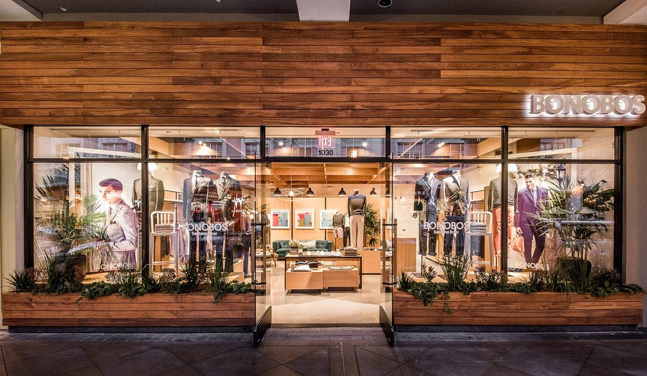 Bonobos Guide shop. Photo via Racked Leveling Out and Narrowing In