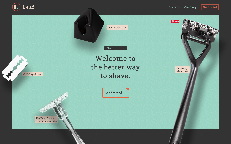 Leaf shave interface