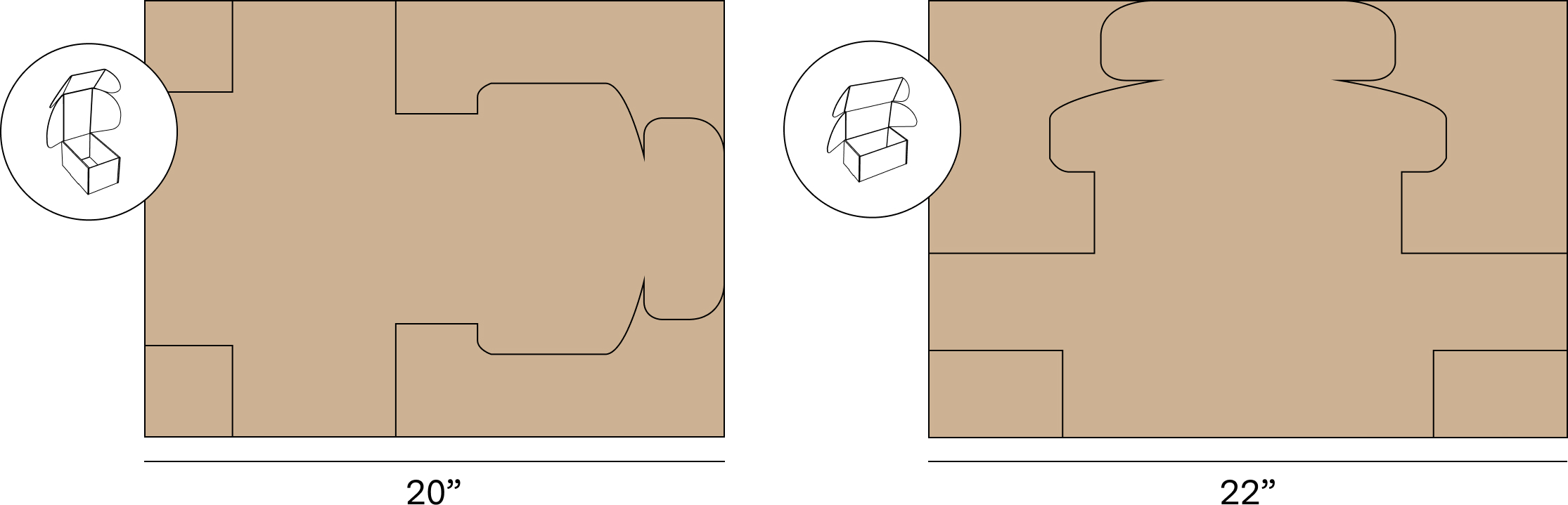 These two boxes have the same interior dimensions, but when the box opens from the shorter side instead of the longer side, it has a 10% smaller material footprint. What drives the manufacturing costs of a box?