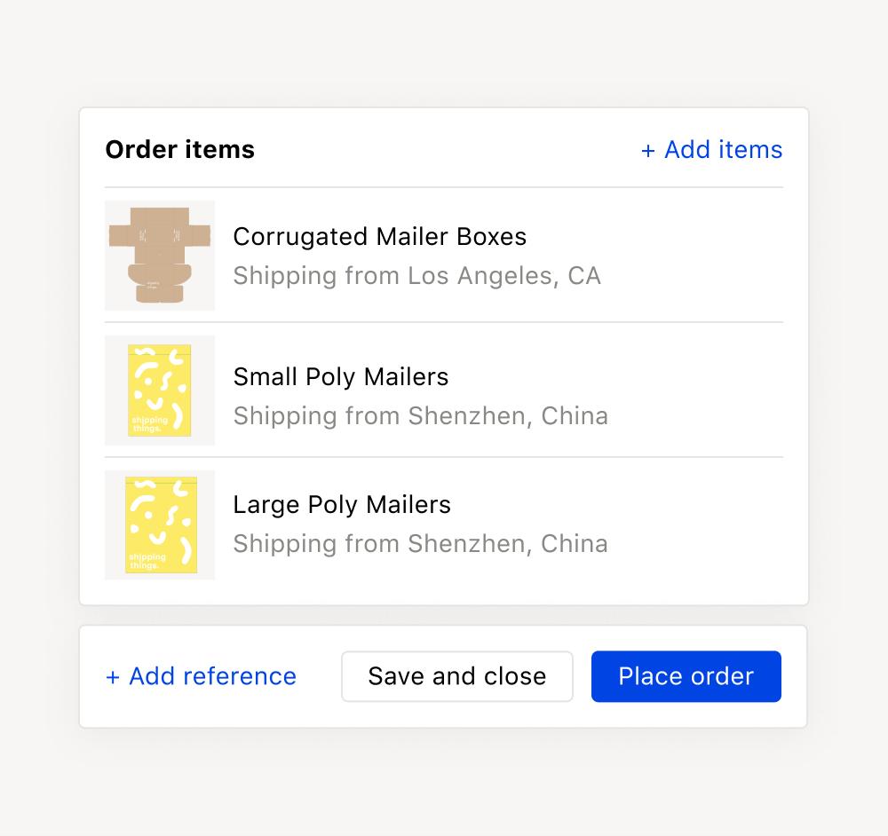 Multi vendor orders