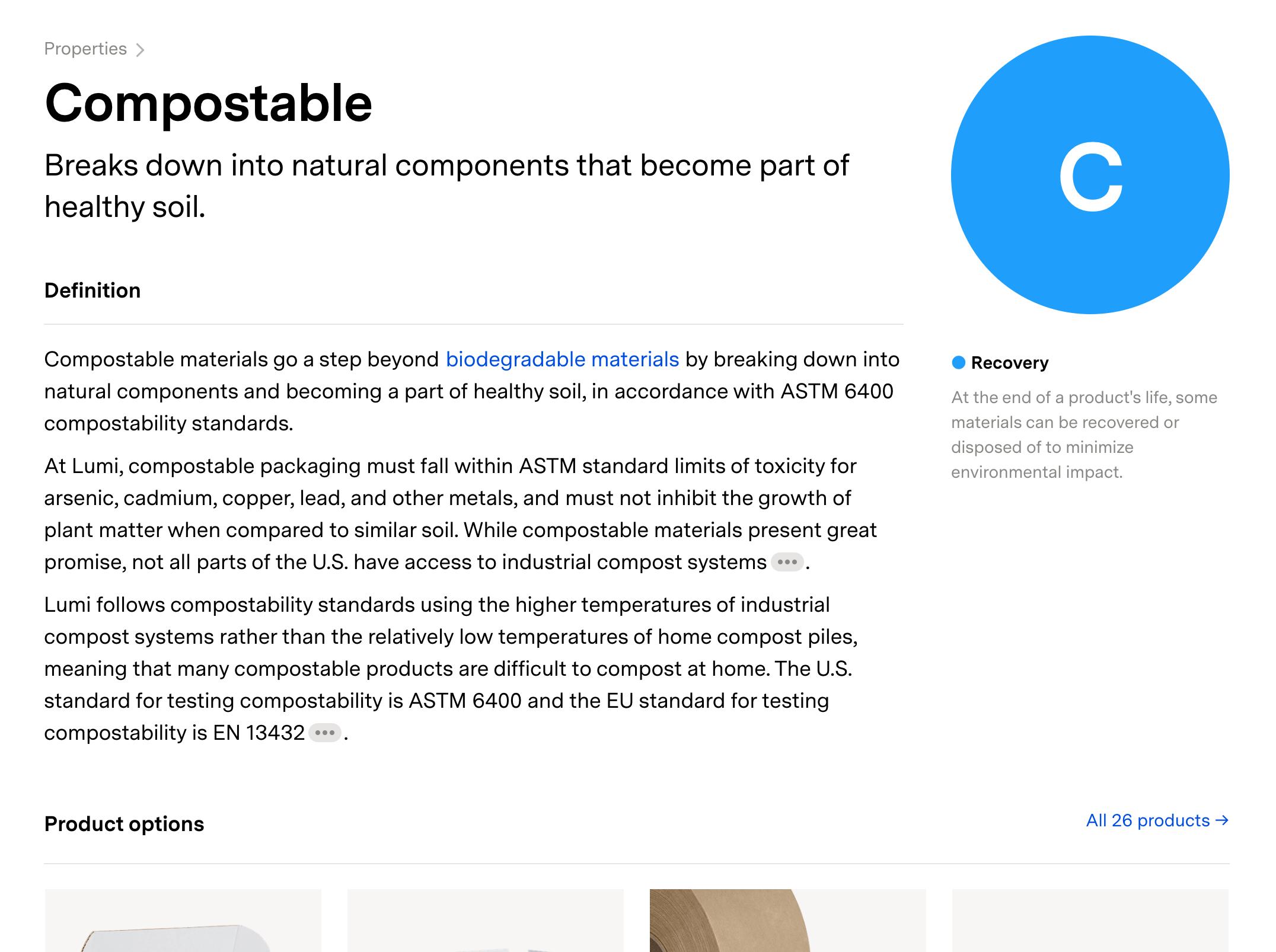 Properties-compostable