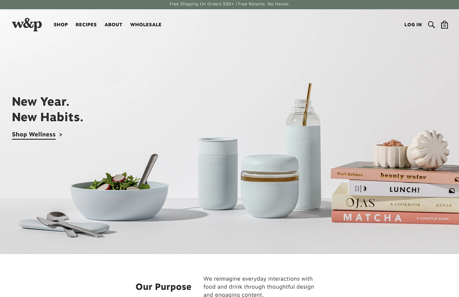 W and P home page