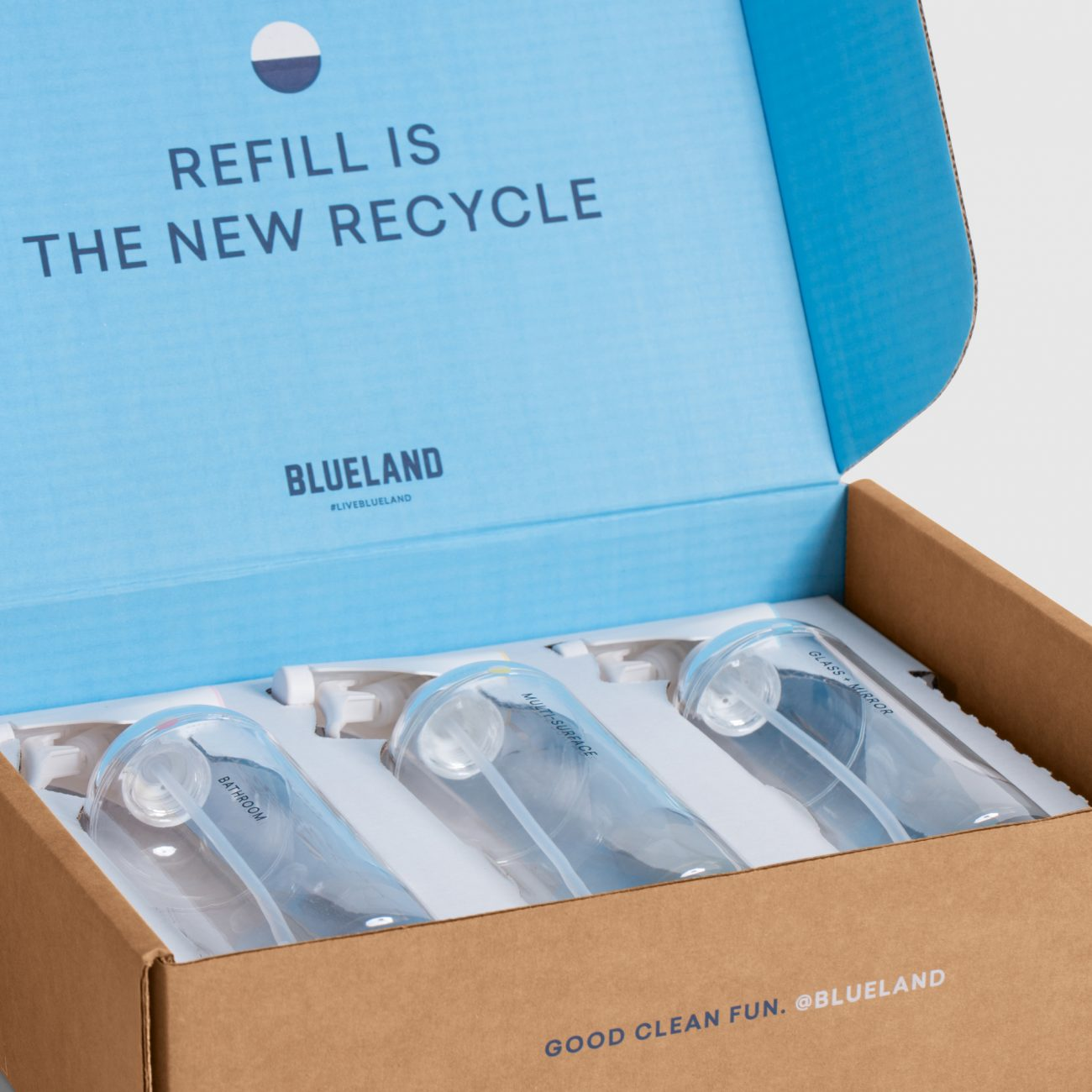 Blueland used Lumi Experts to design packaging for cleaning products that use refillable spray bottles and just-add-water tablets Release Notes: 7 New Sustainability Properties to Reduce and Reuse Packaging