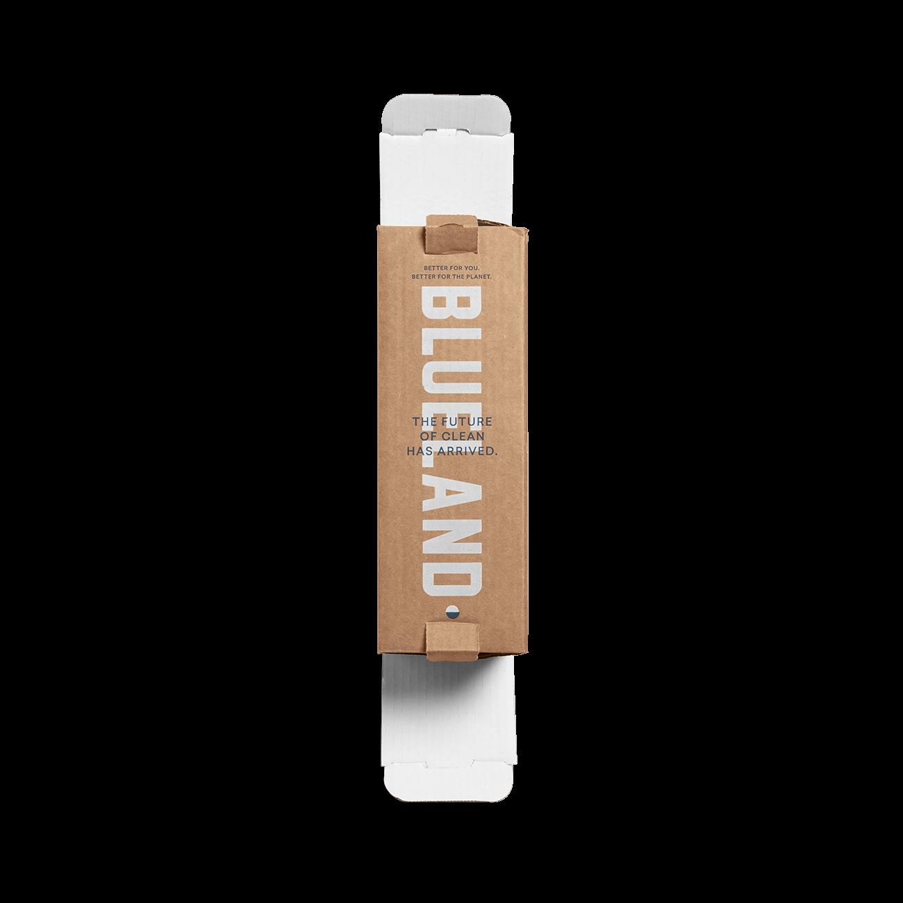 Custom straight tuck end corrugated mailer box with catalog lock, dust flaps, unituck slit lock top, unituck slit lock bottom. Flexography on natural kraft liner, mottled white liner.